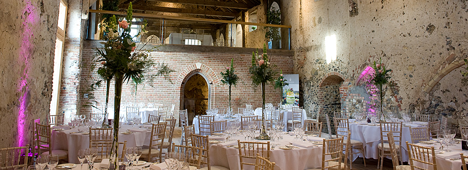 catering room within the walls of Langley Abbey